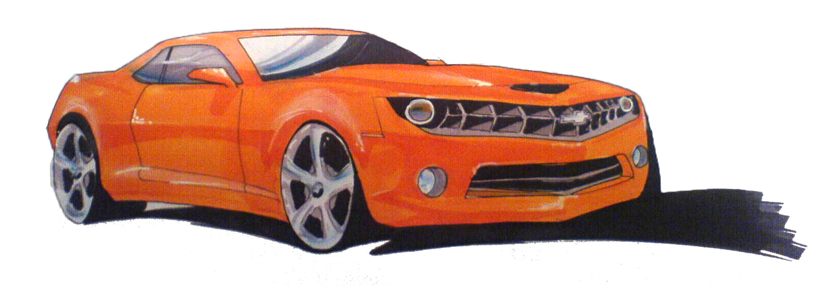 Orange camaro submited images pic2fly